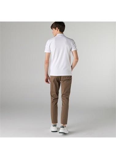 Lacoste Lacoste Erkek Slim Fit Desenli Kahverengi Pantolon Kahve